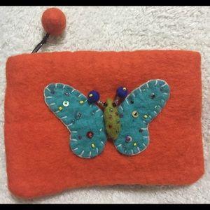 Handbags - Felt change purse.